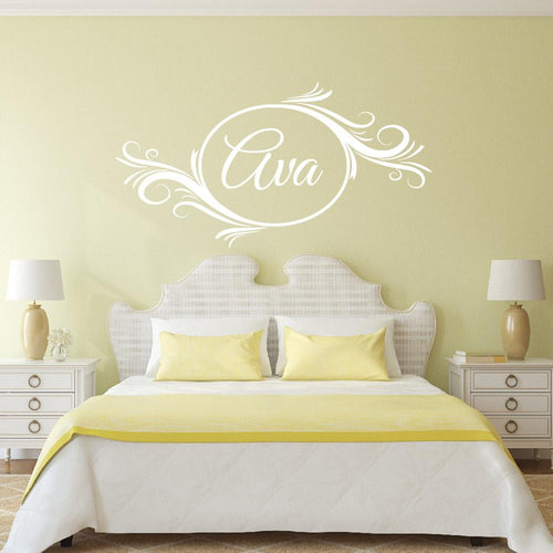 Personalized Delightful Swash Element Kids Wall Decal