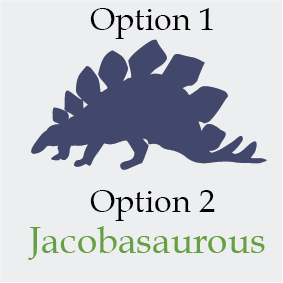 Dinosaur Name Jacobasaurus Kids Wall Decal