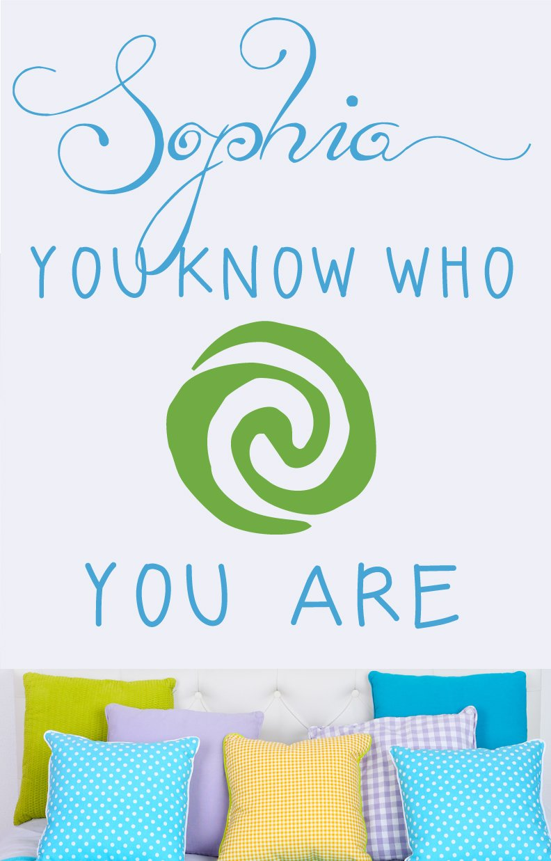 Moana Who You Are Kids Wall Decal