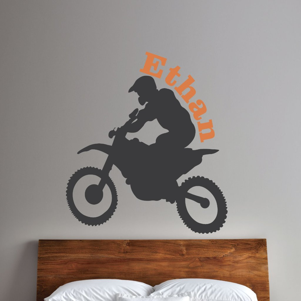 Boys Dirt Bike Kids Wall Decal