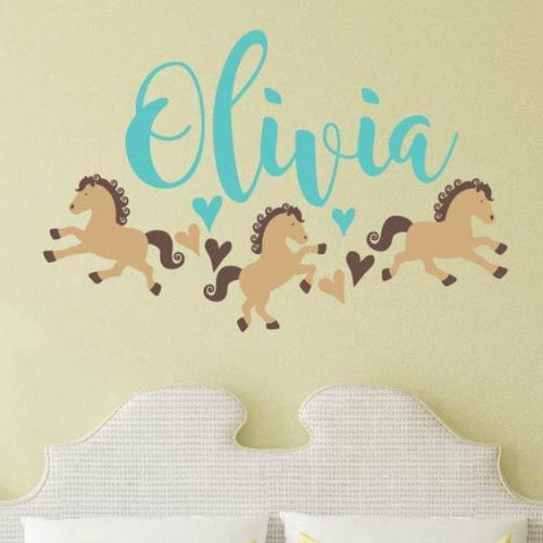 A Girl Horse First Love Horse Name Kids Wall Decal