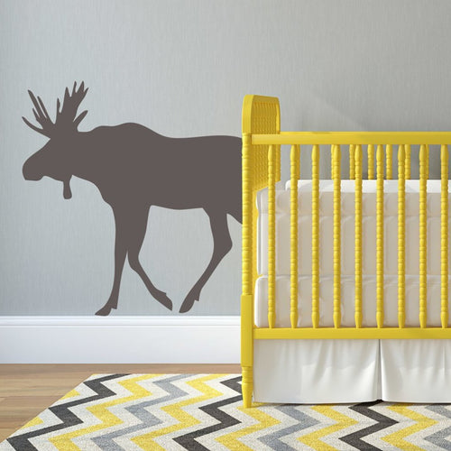 Woodland Forest Moose Kids Wall Decal