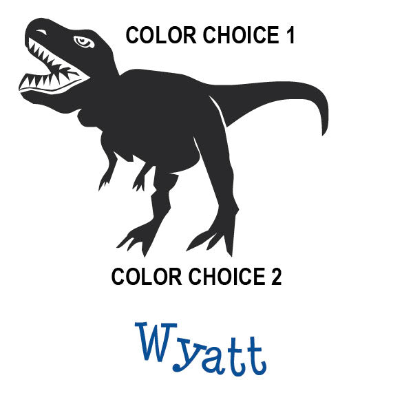 Dinosaur T-Rex Name Kids Wall Decal