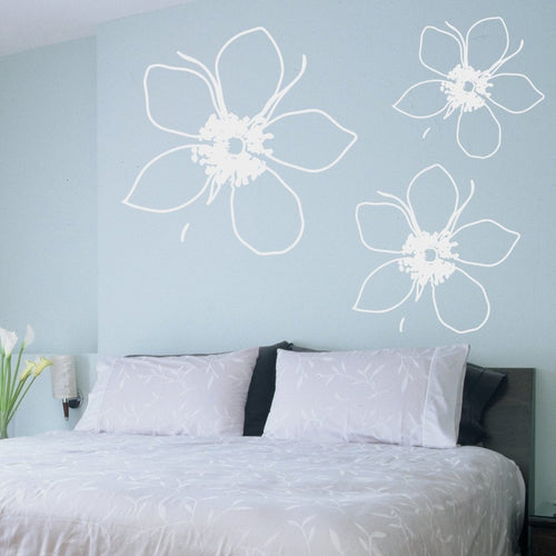 Big Tropical Flower Kids Wall Decal