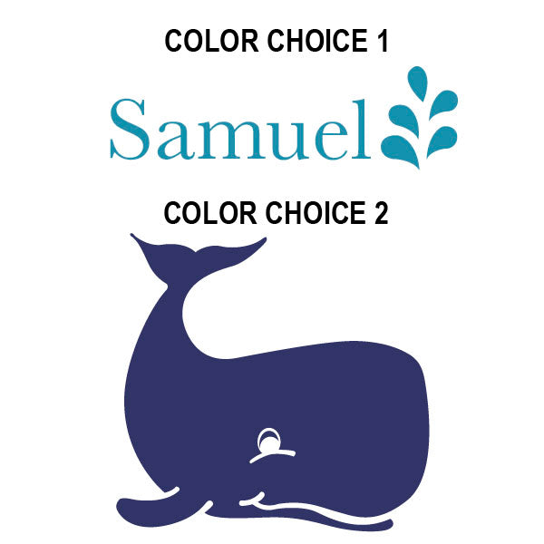Whale Name Kids Wall Decal