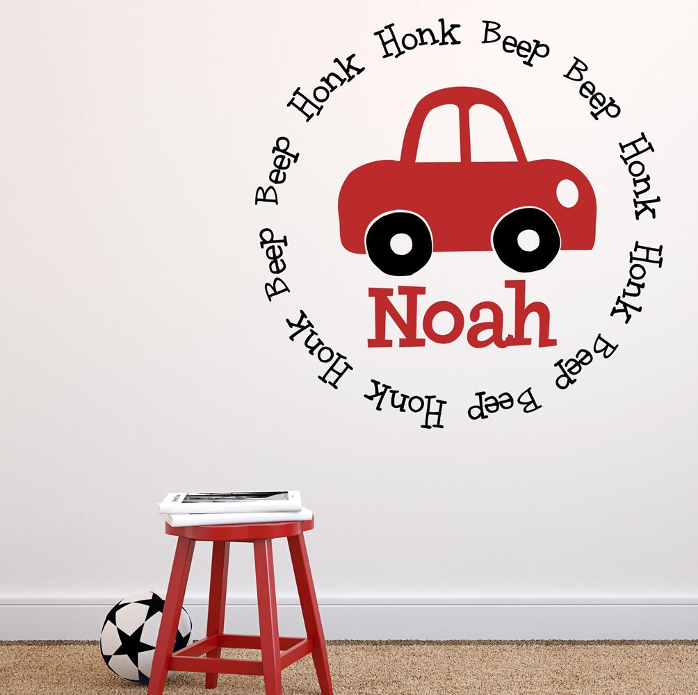 Honk Car Honk Beep Beep Kids Wall Decal