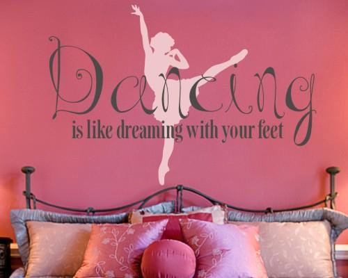 Dancing is Dreaming Dance Wall Decal