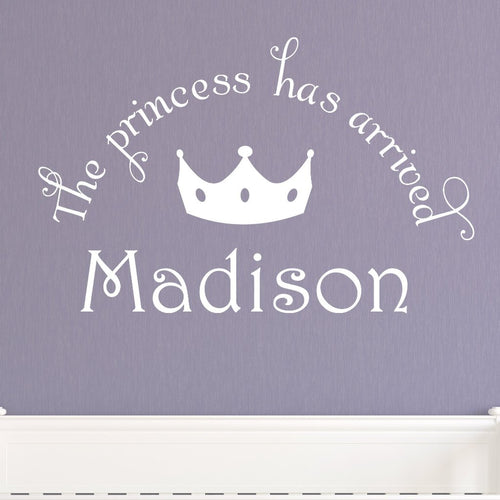 Princess Welcome Kids Wall Decal
