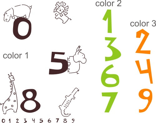 Jungle Numbers Kids Wall Decal