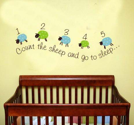 Counting Sheep Kids Wall Decal