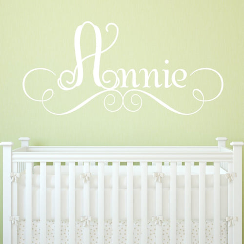 Annie's Personalized Scroll Name Kids Wall Decal