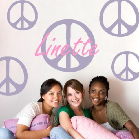 Peace Sign Kids Wall Decal