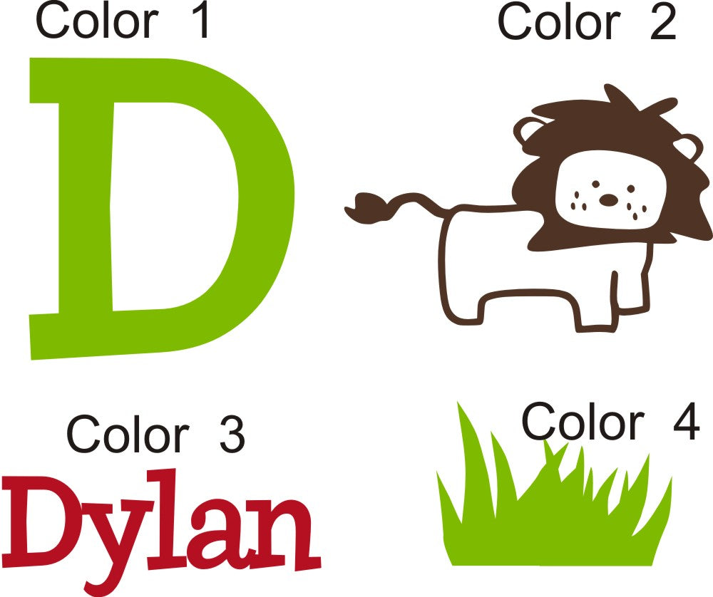 Dylan's Lion Kids Wall Decal
