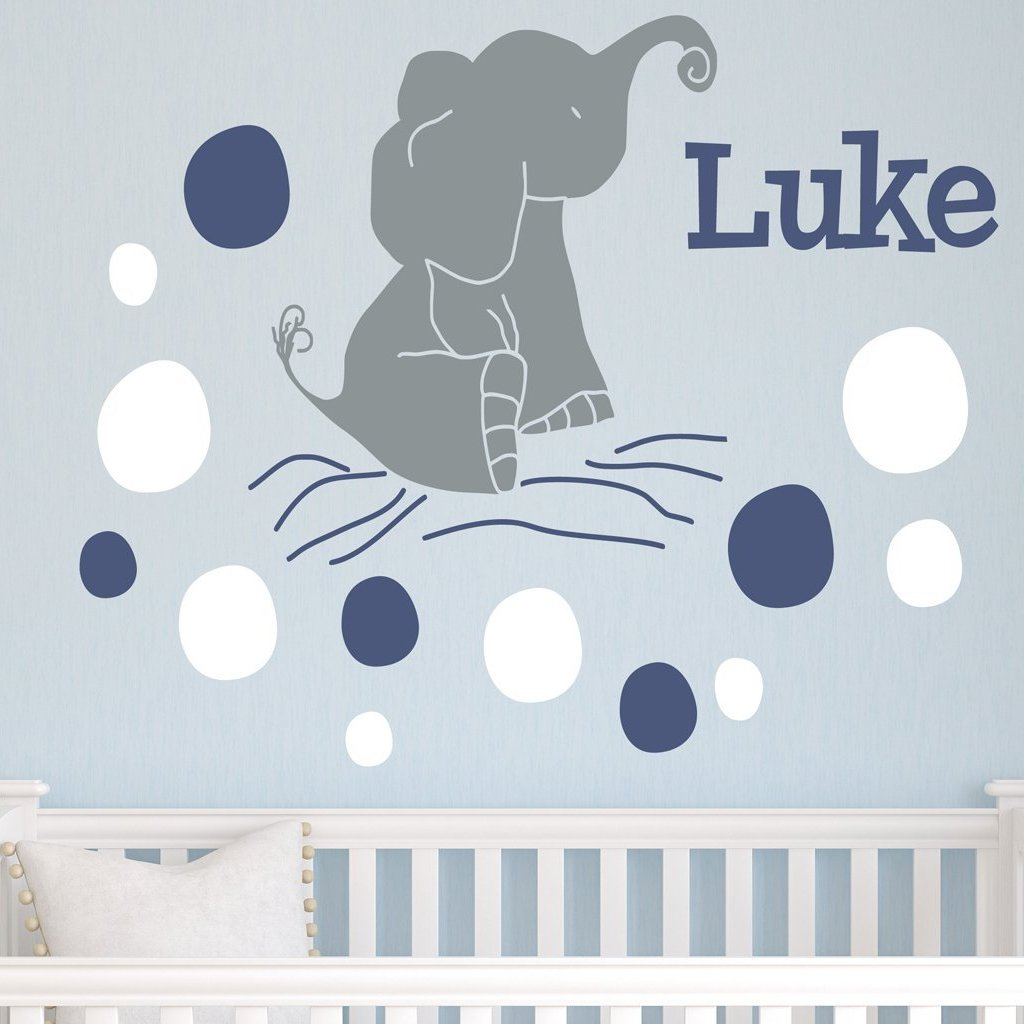 Elephant Dots Kids Wall Decal