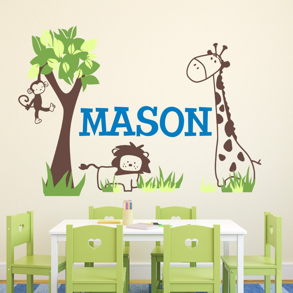Jungle Out There Kids Teen Wall Decals Alphabet Garden Decals - Wall decals jungle