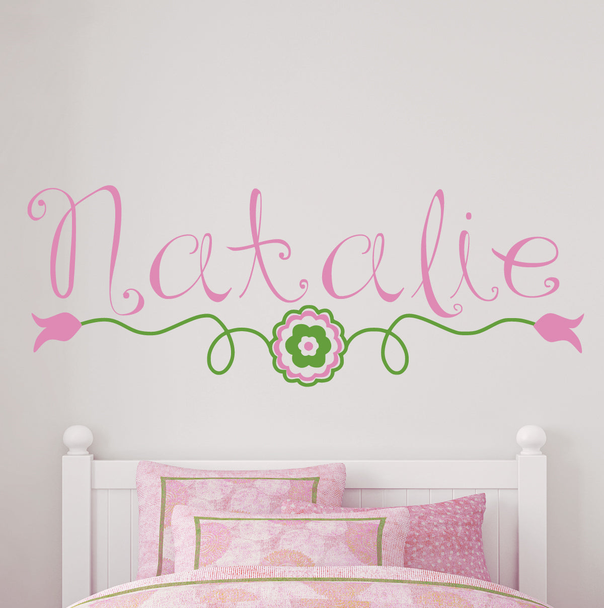 Flower Bohemian Flower Vine Kids Wall Decal