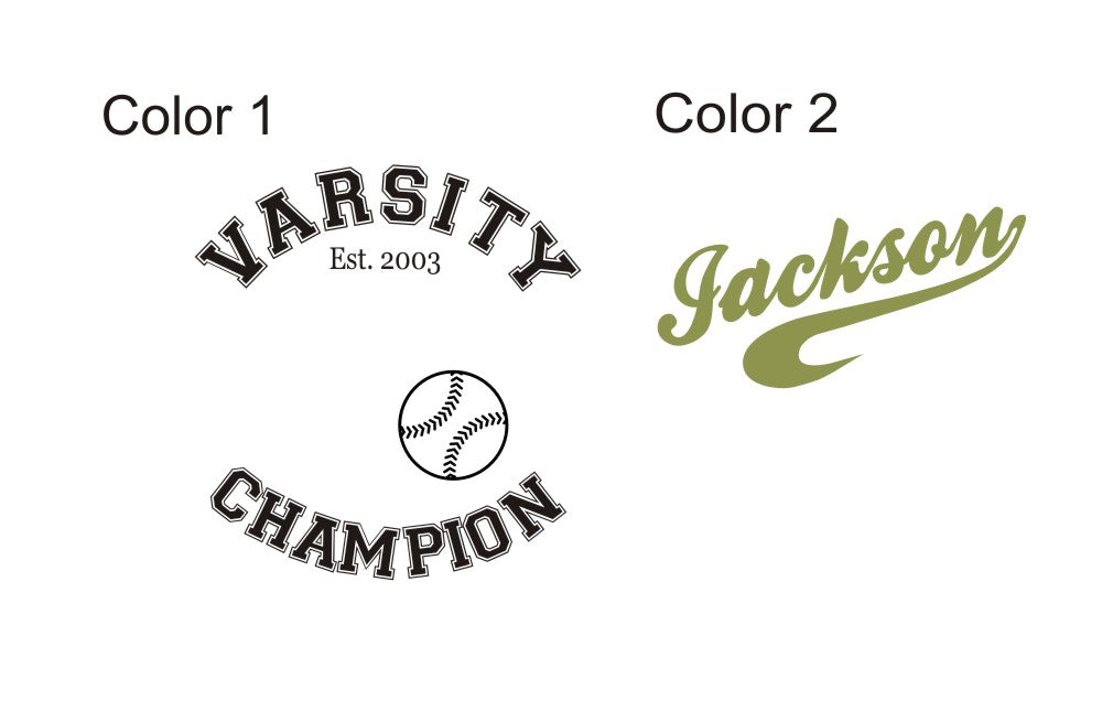 Champion Sports Personalized Kids Wall Decal