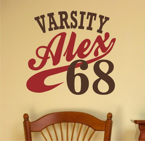 Sports Varsity Champion Personalized Kids Wall Decal