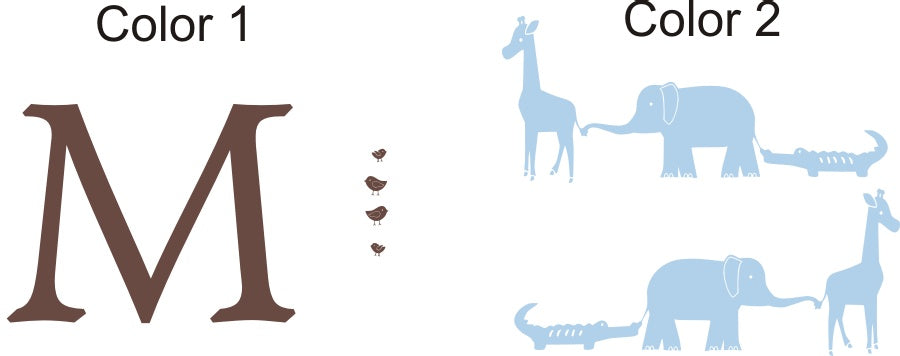 Animal Zoo Parade Personalized Wall Decal