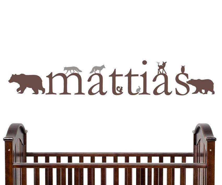 Woodland Forest Critter Personalized Kids Wall Decal