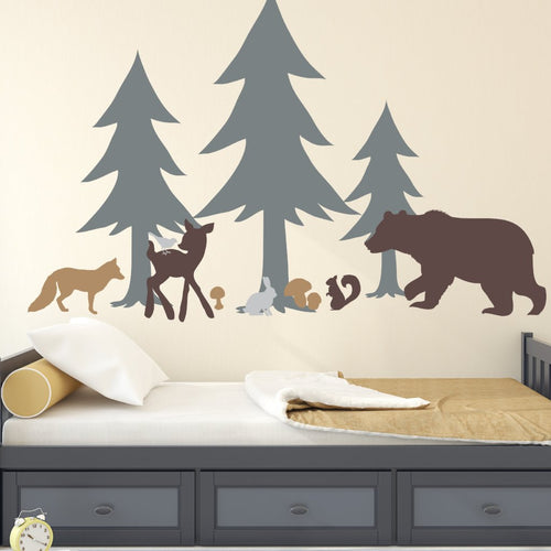 Forest Critters Mural Kids Wall Decal