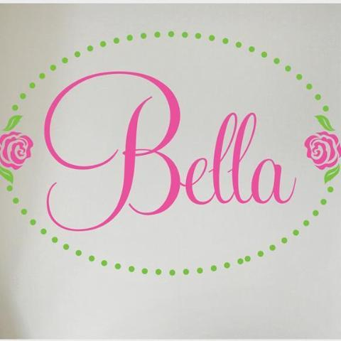 Bella Rose Personalized Kids Wall Decal