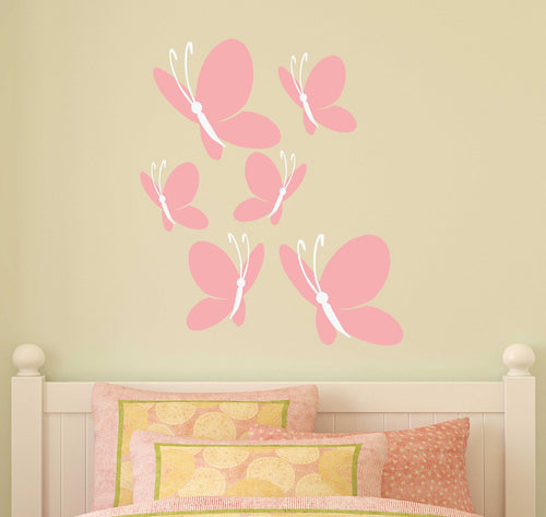 Butterflies Bunch Kids Name Wall Decals