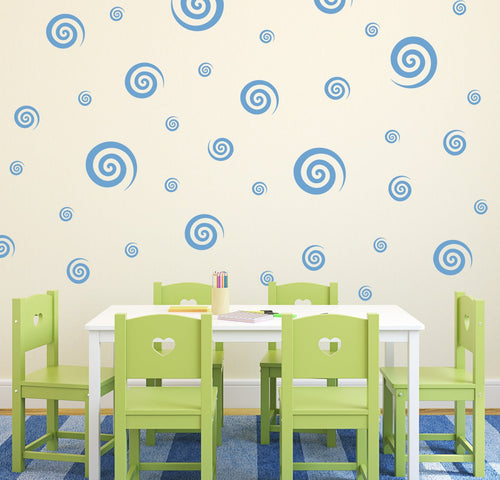 Swirly Swirls Pattern Wall Decals