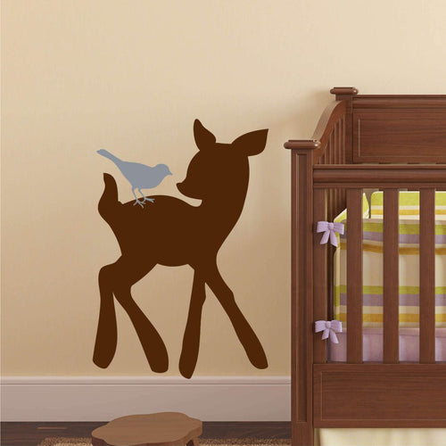Woodland Forest Deer Critters Kids Wall Decal