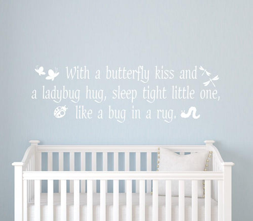 Butterfly Kisses Kids Wall Decal