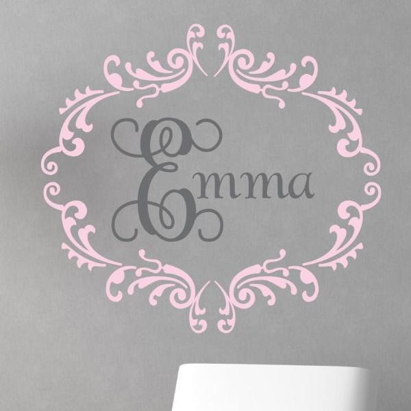 Princess Interlock Personalized Name Kids Wall Decal