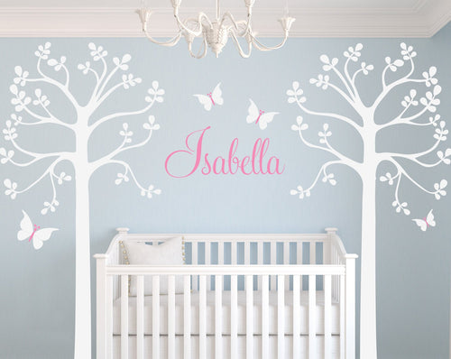 Twin Tree Grove Child Kids Wall Decal