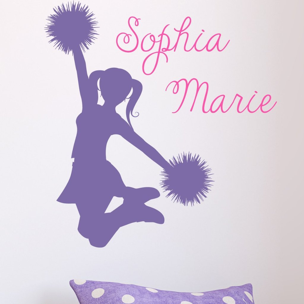 Cheerleader Name Cheers Kids Wall Decal