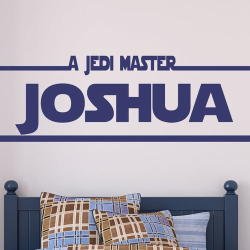 Jedi Master Personalized Star Wars Kids Wall Decal