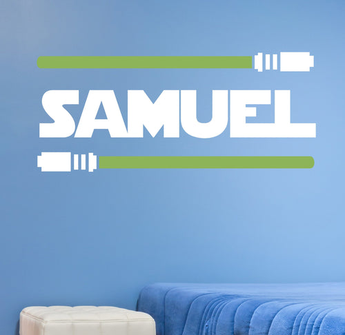 Star Wars Lightsaber Personalized Name Kids Wall Decal