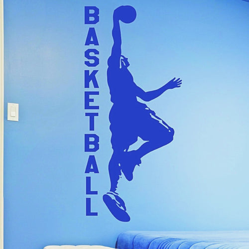 Basketball Dunking Player Wall Decal