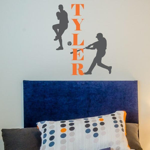 Batter Up Baseball Personalized Kids Wall Decal