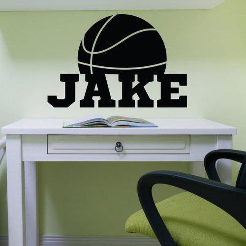 Basketball Name Personalized Kids Wall Decal
