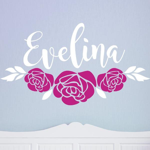 Beauty Belles Rose Name Kids Wall Decal