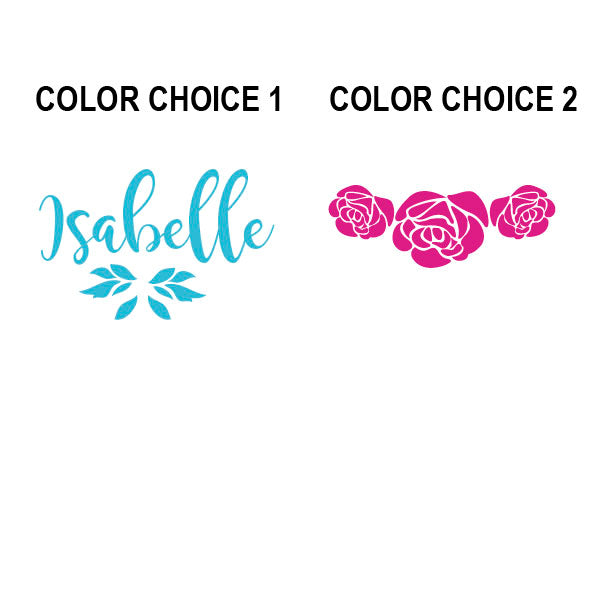 Beauty Belles Roses Name Kids Wall Decal