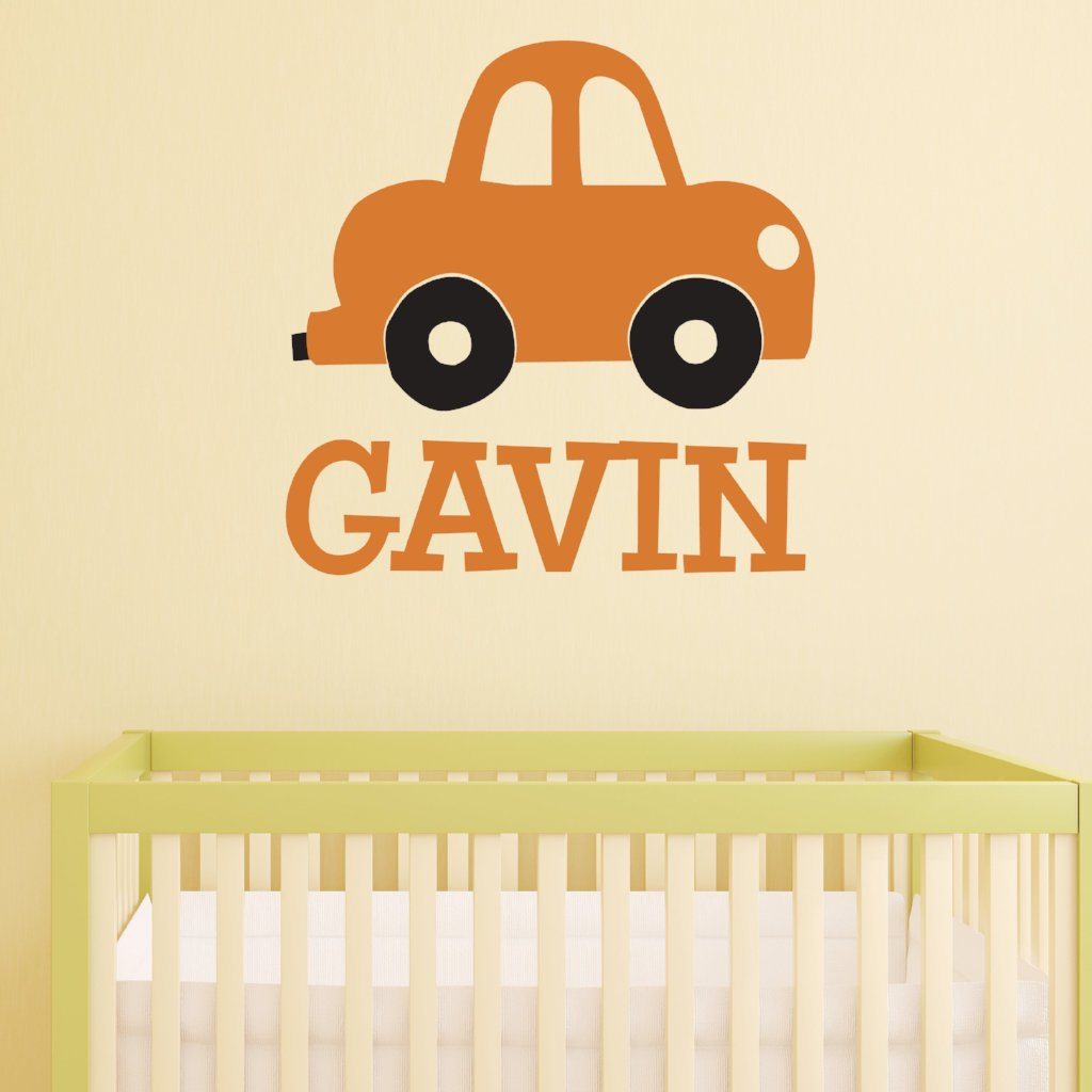 Little Car Personalized Kids Wall Decal