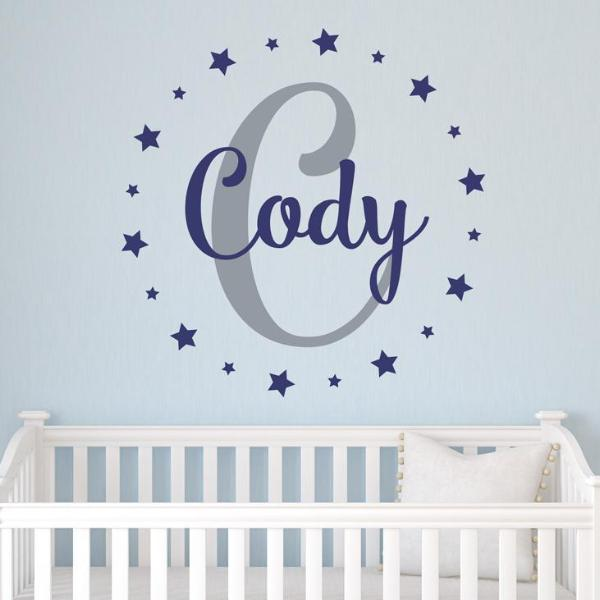 Star Light Personalized Name Kids Wall Decal