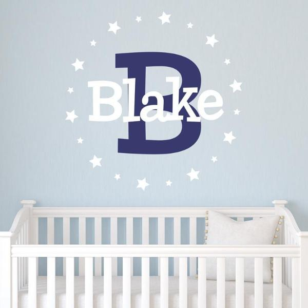 Star Bright Light Personalized Name Kids Wall Decal