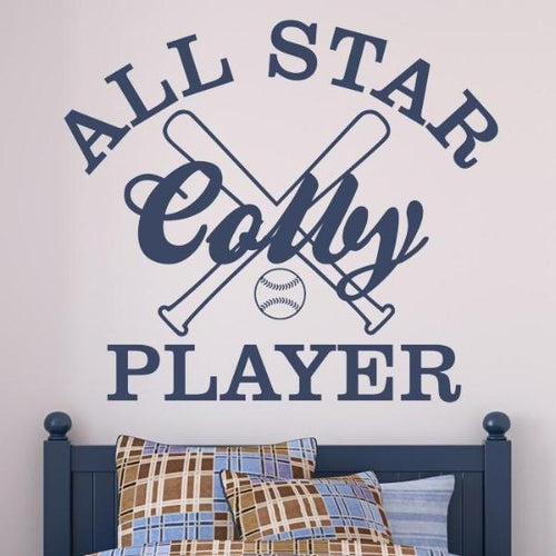 Sports All Star Player Wall Decal