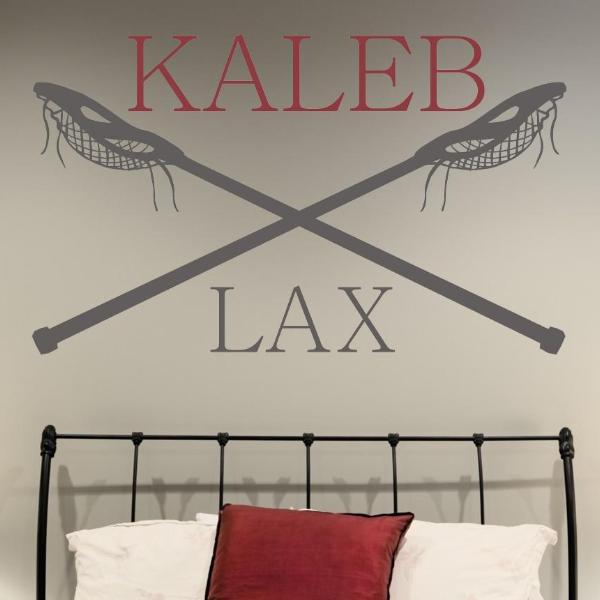 Lacrosse Boys Name Kids Wall Decal
