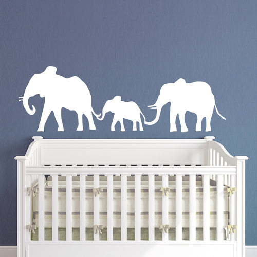 Elephant Family Kids Wall Decal