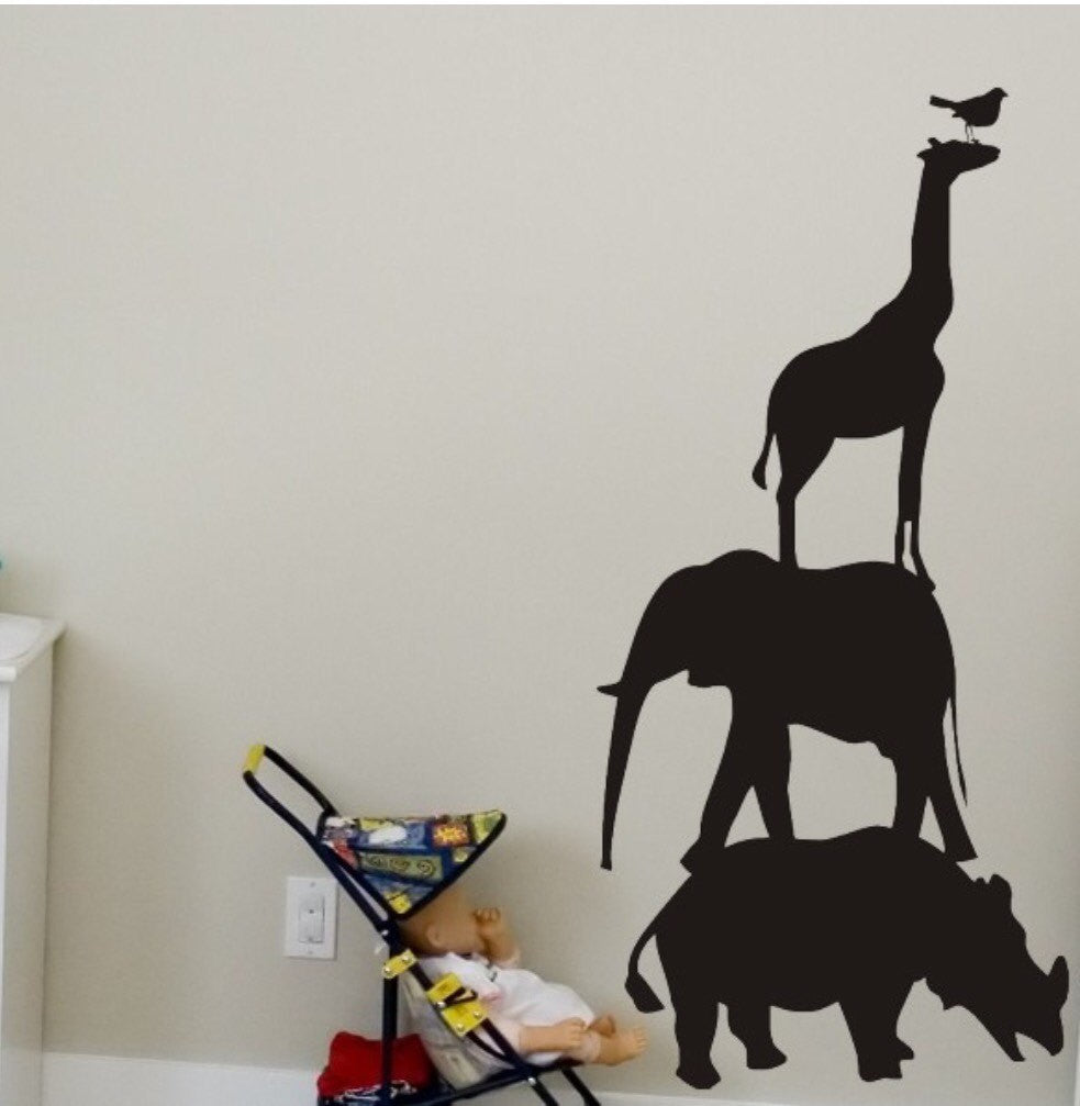 Safari Stacked Chalkboard Wall Decal