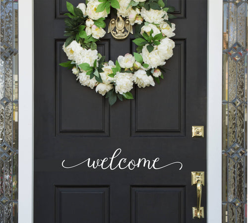 Welcome Door Vinyl Decal