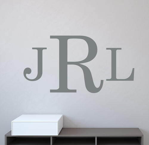 Classic Personalized Monogram Wall Decal
