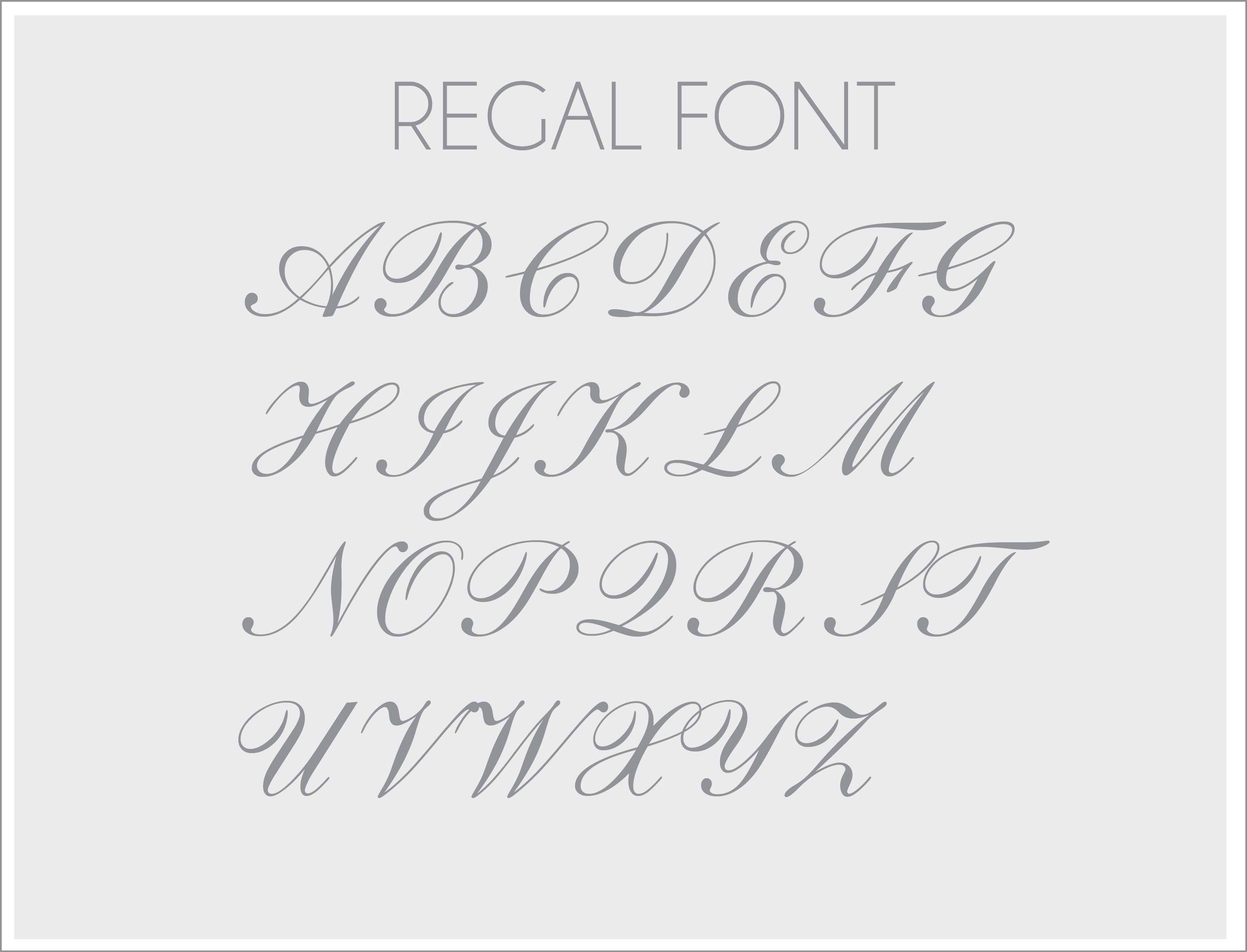Regal Personalized Monogram Wall Decal